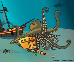 Illustration / Bläckfisk | Paladinodesign